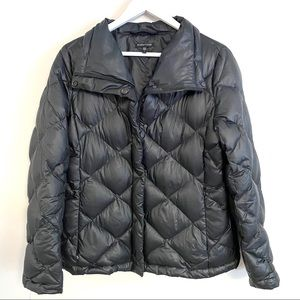 Eileen fisher blue zip/button up jacket